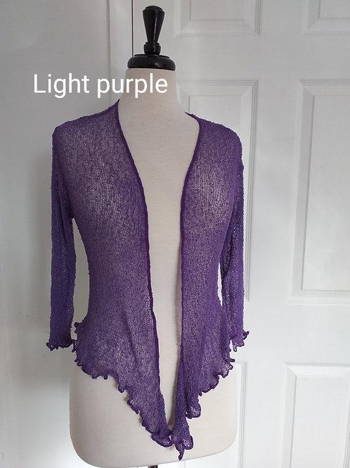 Purple Shrug Bolero Fits UK SIZES 8 10 12 14 16 18
