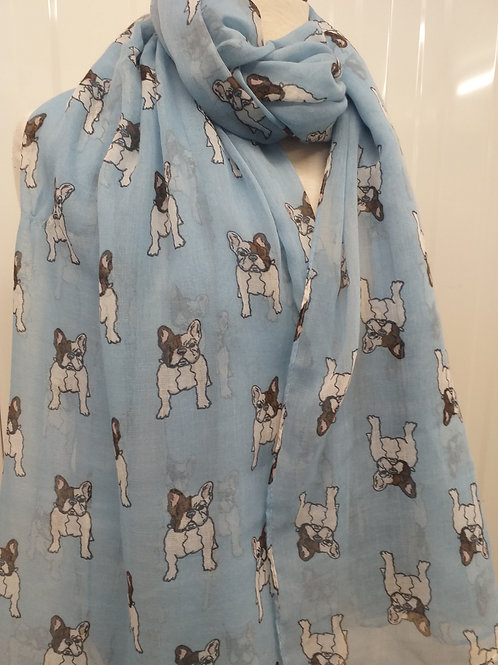 Frence Bull Dog Scarf
