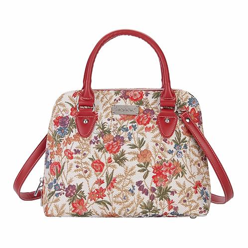 FLOWER MEADOW TAPESTRY LADIES SHOULDER BAG