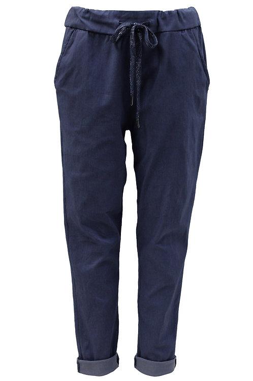Plain Navy Magic trousers Fits Uk 12-16