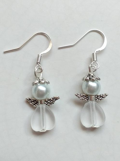 White Angel Earrings