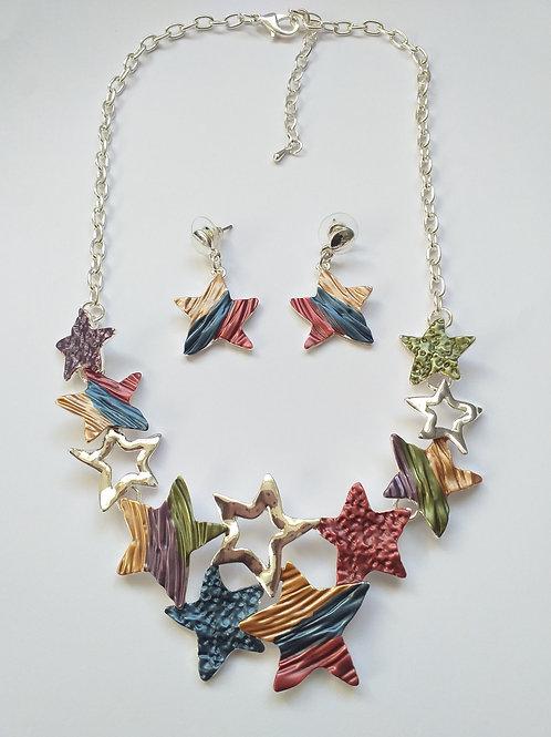 Stars Necklace Set multicolored