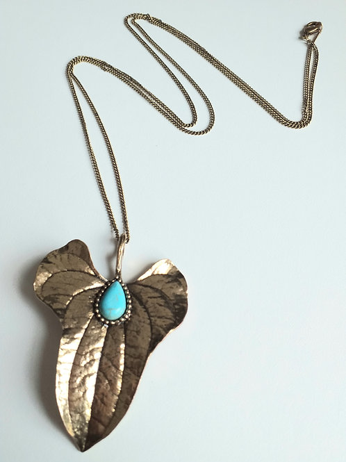 Torquise Leaf Necklace