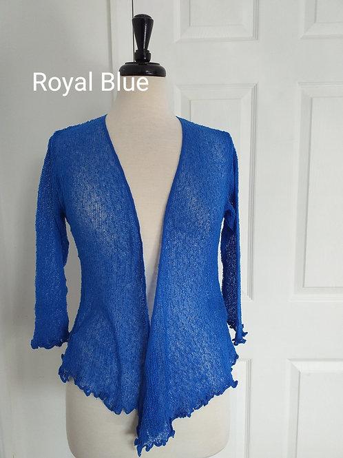 Royal Blue Shrug Bolero Fits UK SIZES 8 10 12 14 16 18