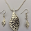 Thumbnail: Nickle free leaf necklace set