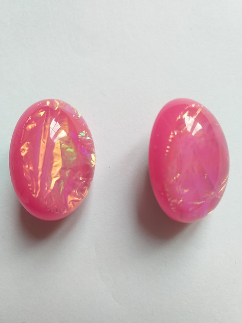 Pink Clipon Earrings