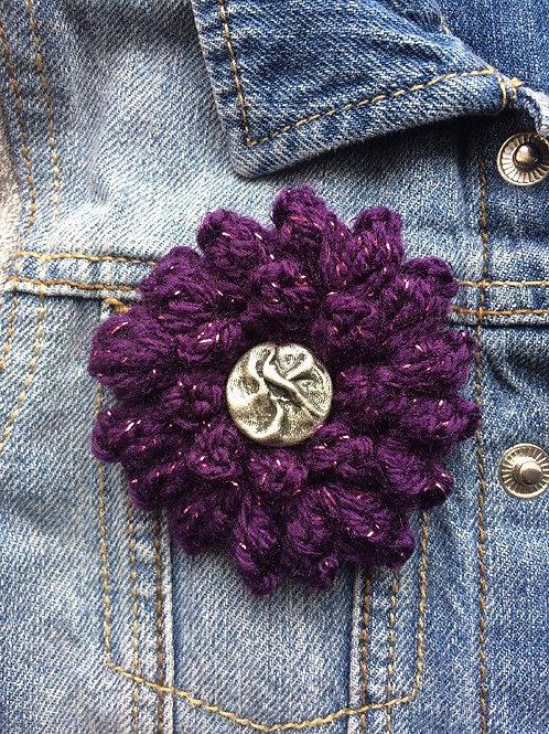 Purple Corsage Brooch