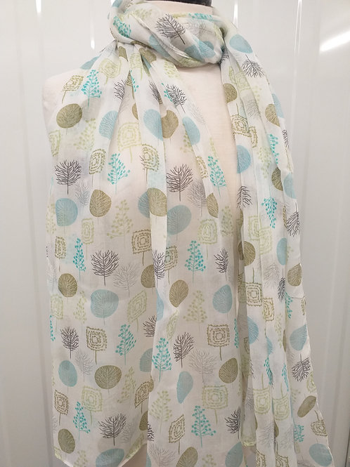Lime Mixed Tree Scarf
