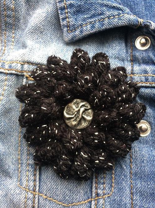 Black Corsage Brooch