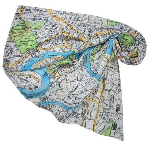 Ladies london map scarf simiandlola ladies london map scarf gumiabroncs Images
