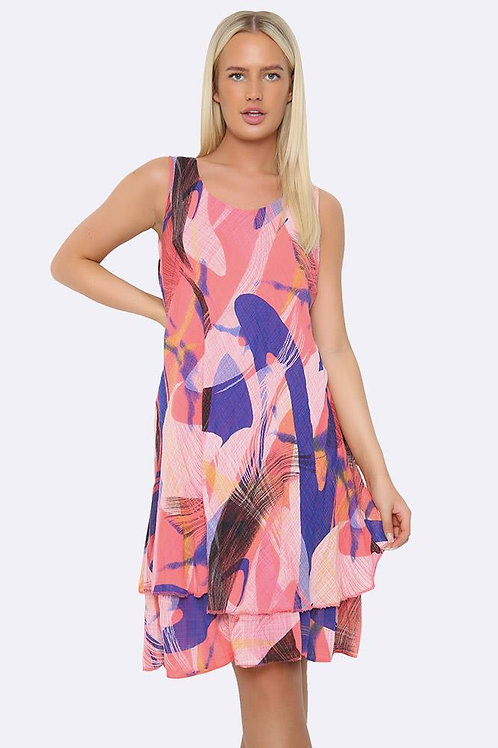 Pretty Pink Abstract Fits UK 12-18