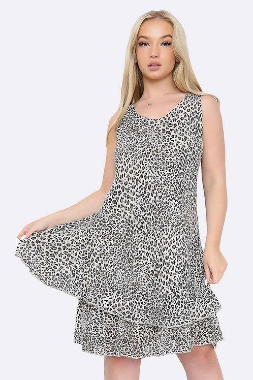 Light Pink Leopard Dress Fits UK 12-18