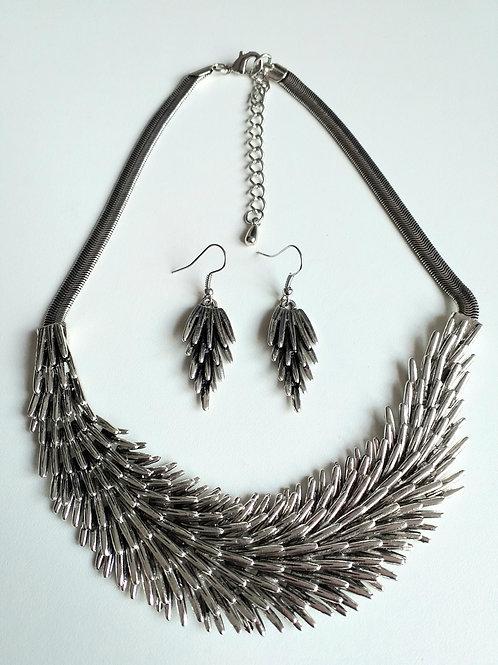 Hedgehog Necklace & Earrings  Set