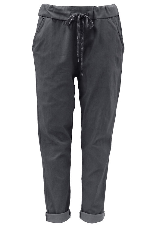 Plain Dark Grey Magic trousers Fits Uk 12-18