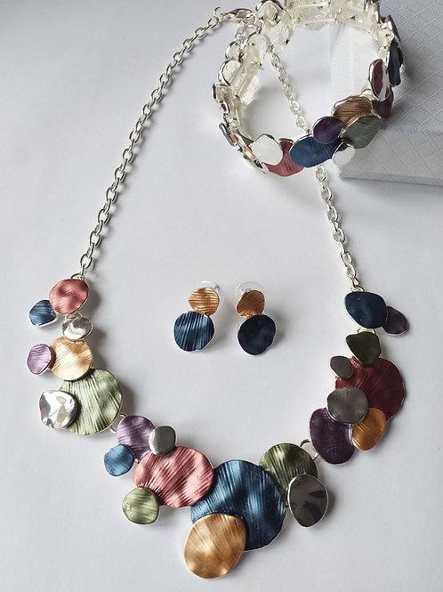 Clara Circles multi Necklace Set