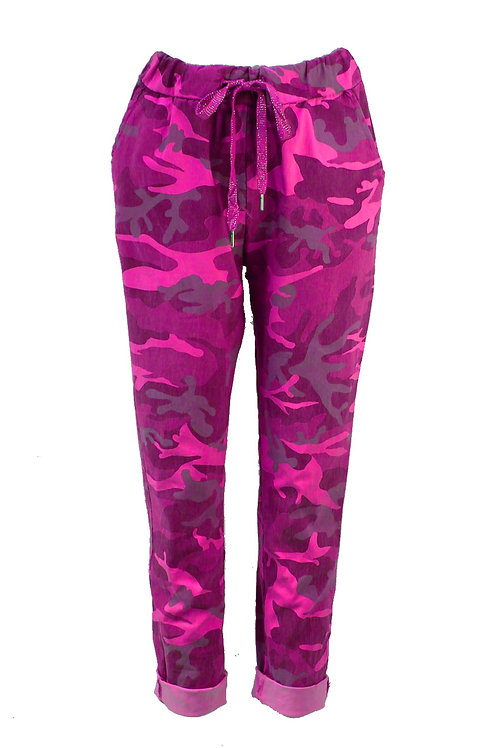 Military Print Magic trousers Fits Uk 12-16