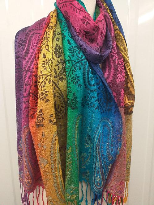 Paisley Rainbow Pashmina