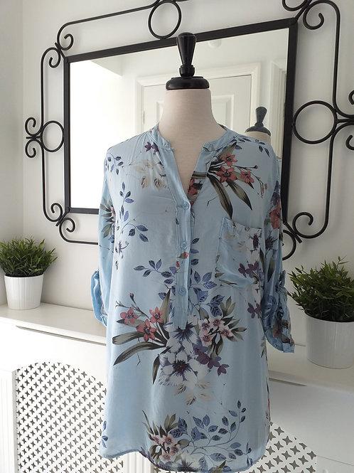 Baby Blue Floral Shirt Fits UK 10-16