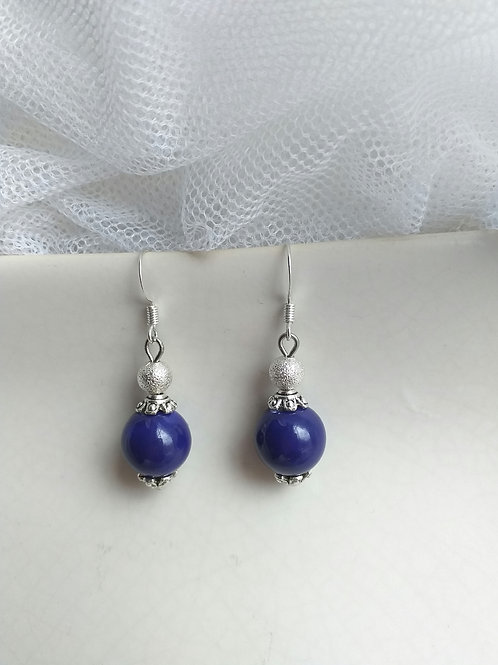 Blue Porcelain Earrings
