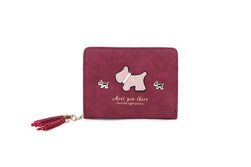 Scottie dog tassel purse