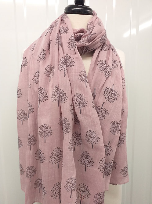 Dusky Pink mulberry tree Scarf
