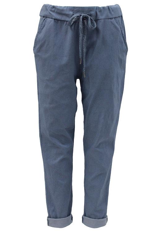 Plain Denim Blue Magic trousers Fits Uk 12-18