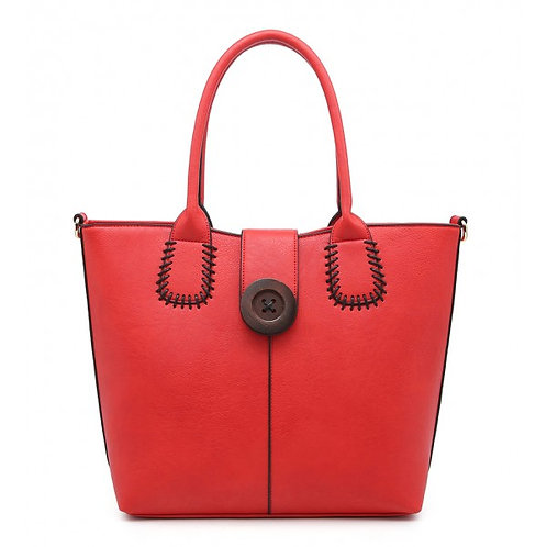 Large Milan Button & Stitch Tote Bag