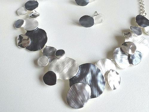 Malta Grey Necklace, Earrings Bracelet Set