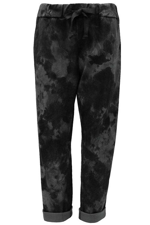 Tie-dye Black magic trousers fits uk 18-22