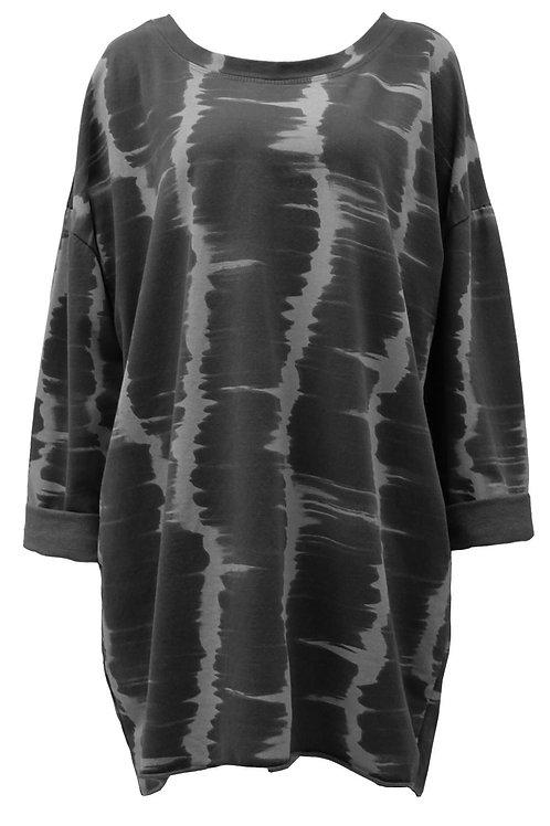 Janice Grey Tie-dye tunic top