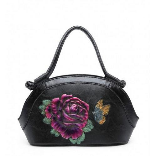 Ladies Rose Embossed Handbag II