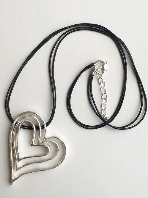 Silver Triple Heart Necklace