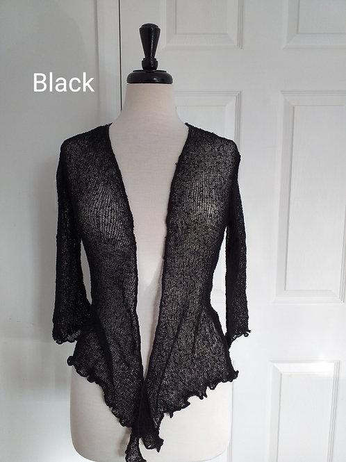 Black Shrug Bolero Fits UK SIZES 8 10 12 14 16 18
