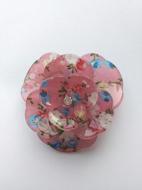 Floral acrylic brooch