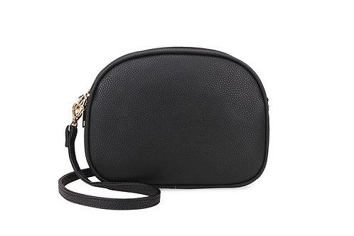 Tia multi compartment black bag