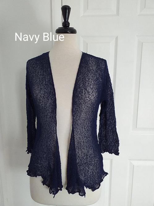 Navy Blue Shrug Bolero Fits UK SIZES 8 10 12 14 16 18