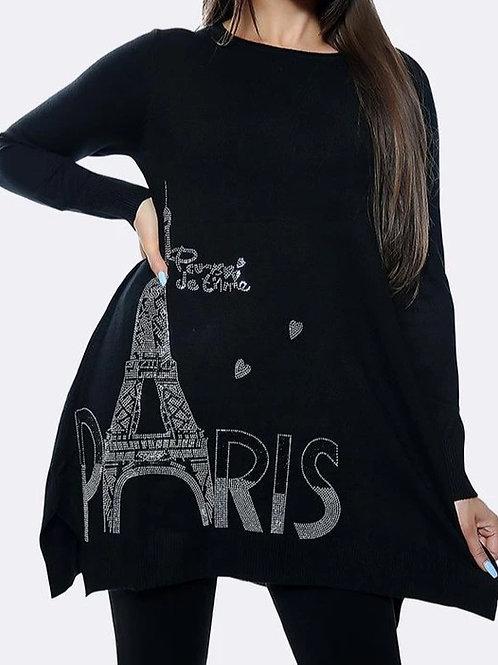 Eiffel Tower Diamante Jumper
