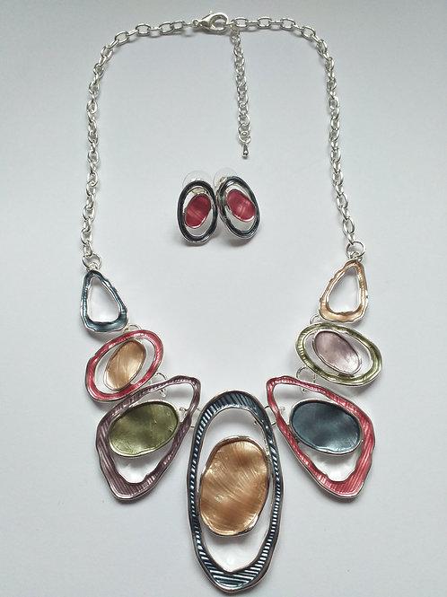 Double Circles Necklace set