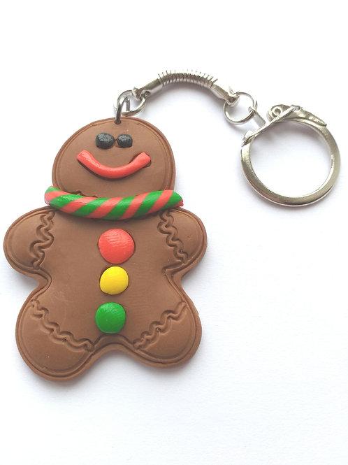 Gingerbread  man keyring/bagcharm