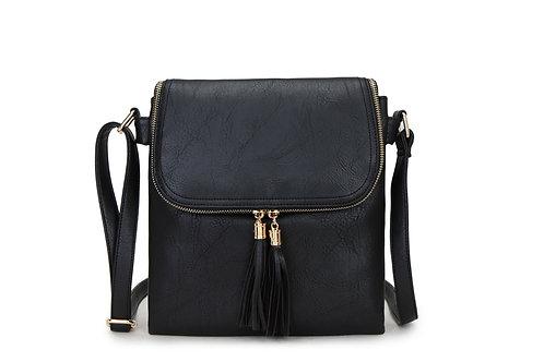 Double Tassel Crossbody Bag