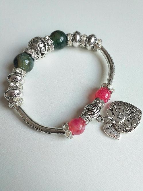 Agate Elasticated Bracelet