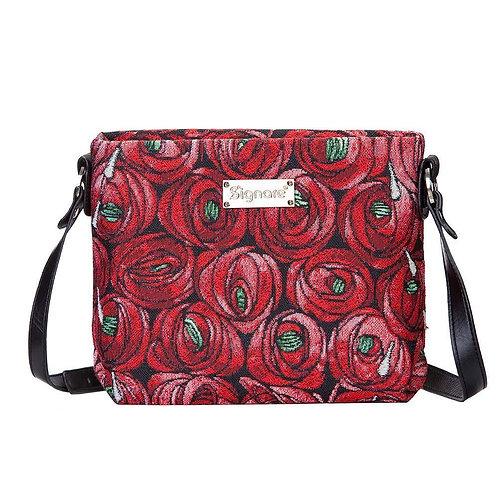 Tapestry Across Body Shoulder Bag - TEAR DROP SIGNAIRE