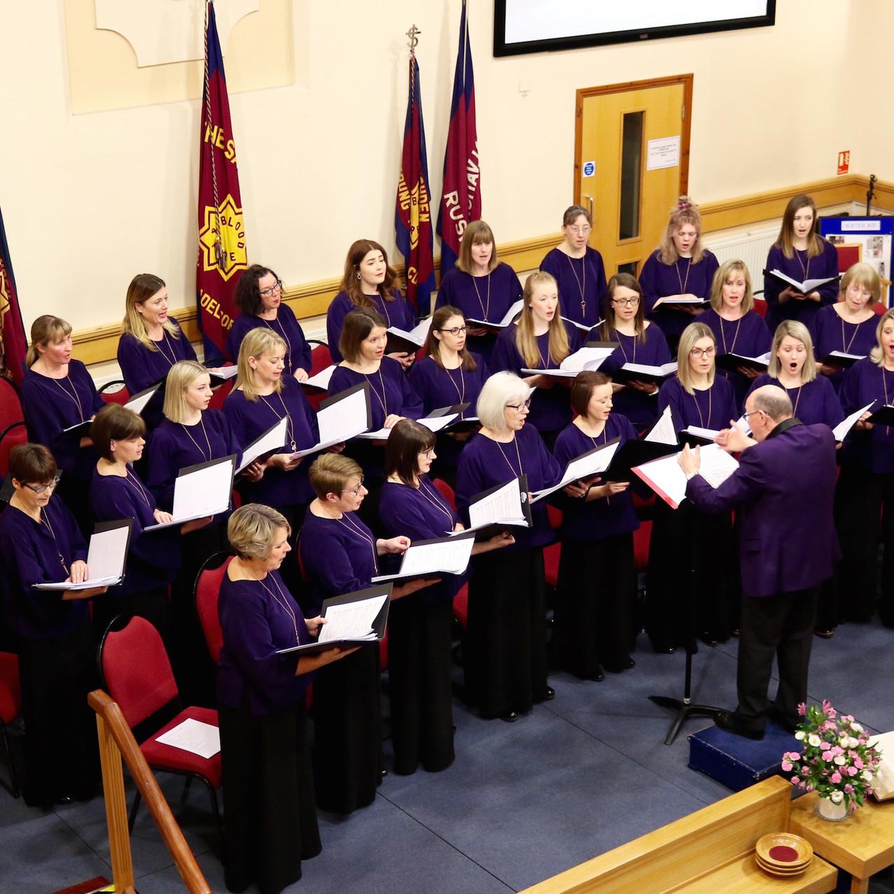 Belcanto performing in Rushden