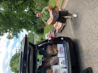 Food Distribution at Community Hub