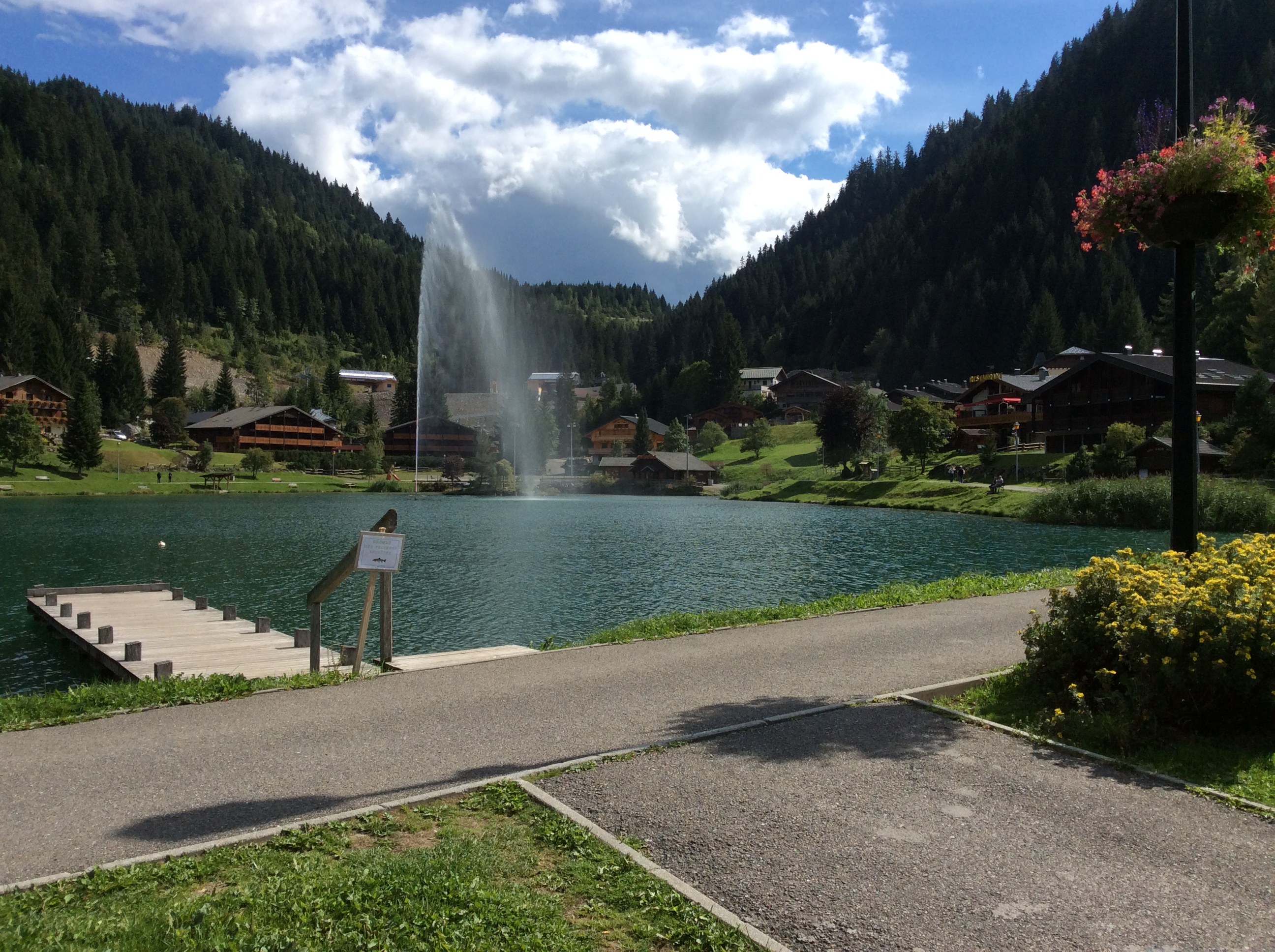 Lac du Vonne in nearby Chatel summer