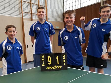 Jungen 18 am Doppelspieltag erfolgreich