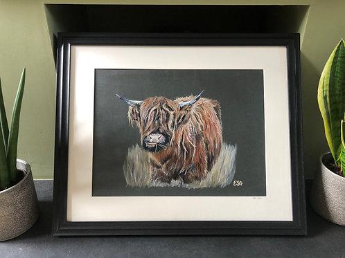 Original Highland Cow Painting