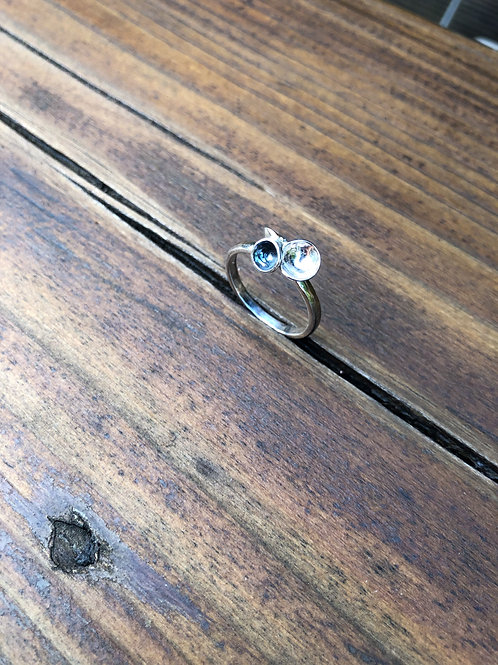 Circle 3 Cup Silver Ring