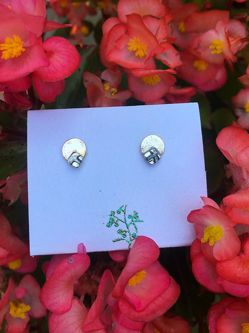 Circles and Squares Stud Earrings