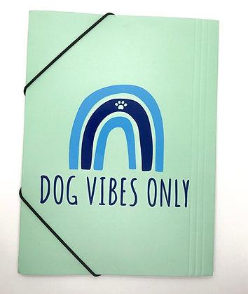 תיקיית קרטון - Dog Vibes Only